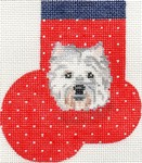 click here to view larger image of West Highland Terrier Mini Sock (hand painted canvases)