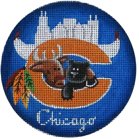 click here to view larger image of Chicago Deer Ornament (hand painted canvases)