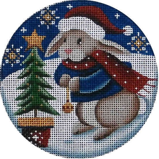 click here to view larger image of Bunny Tree Ornament (hand painted canvases)