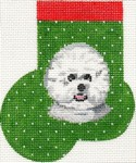 click here to view larger image of Bichon Frise Mini Sock (hand painted canvases)