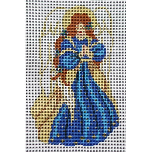 click here to view larger image of Blue Robed Angel (hand painted canvases)