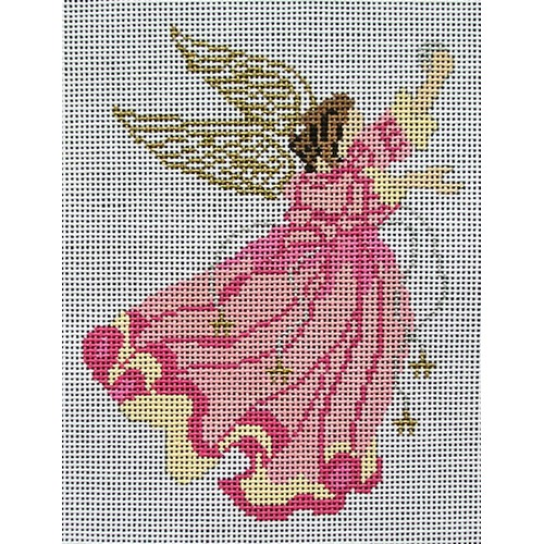 click here to view larger image of Pink Robed Angel (hand painted canvases)