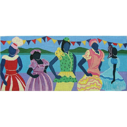 click here to view larger image of Carnival Contestants (hand painted canvases)
