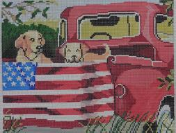 click here to view larger image of Red Truck Dogs (hand painted canvases)