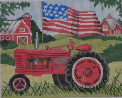 click here to view larger image of Red Tractor (hand painted canvases)