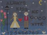 click here to view larger image of Always Kiss Me Good Nite (hand painted canvases)
