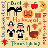 click here to view larger image of Holiday Seasons - Fall (hand painted canvases)