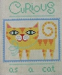click here to view larger image of Curious As A Cat (hand painted canvases)