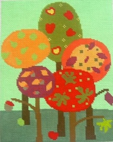 click here to view larger image of Fall Orchard (hand painted canvases)