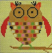 click here to view larger image of Brown Owl (hand painted canvases)