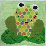 click here to view larger image of Fancy Frog (hand painted canvases)