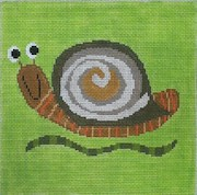 click here to view larger image of Snappy Snail (hand painted canvases)