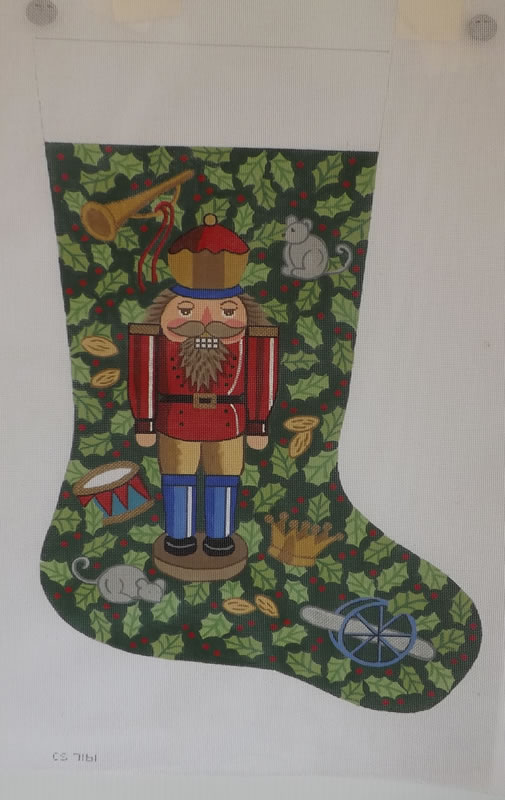 click here to view larger image of Christmas Stocking - 18ct - Nutcracker (hand painted canvases)