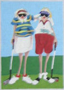 click here to view larger image of Golf Mamas 2 (hand painted canvases)
