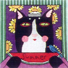 click here to view larger image of Summer Cat (hand painted canvases)