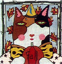 click here to view larger image of Fall Cat (hand painted canvases)