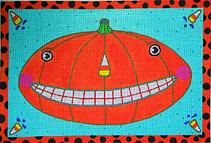 click here to view larger image of Funky Pumpkin (hand painted canvases)