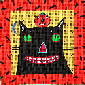 click here to view larger image of Spooky and Friend (hand painted canvases)