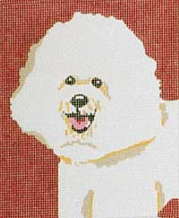 click here to view larger image of Heidi - Bichon (hand painted canvases)