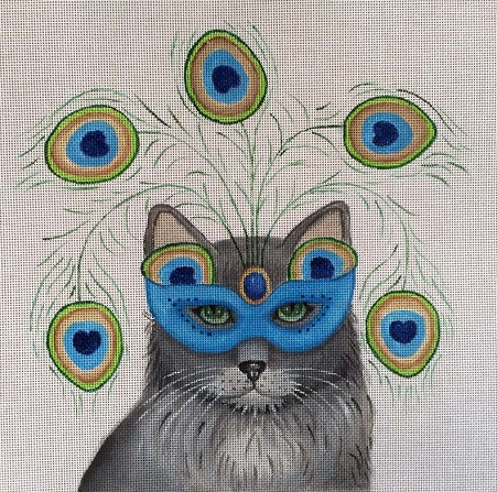 click here to view larger image of Midnight Masquerade - Costume Cats (hand painted canvases)