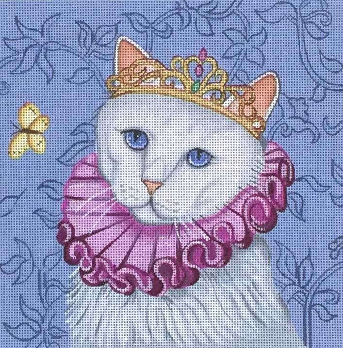 click here to view larger image of Drama Queen - Costume Cats (hand painted canvases)