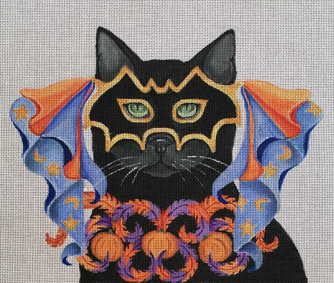click here to view larger image of Halloween Masquerade - Costume Cats (hand painted canvases)