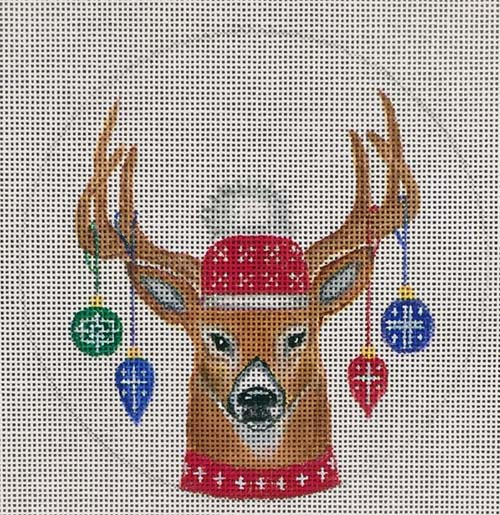 click here to view larger image of Antler Ornaments Ornament (hand painted canvases)
