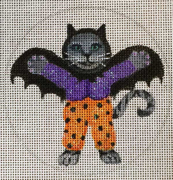 click here to view larger image of Bat Kitty Ornament (hand painted canvases)