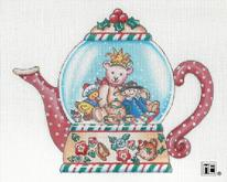 click here to view larger image of Joy Teapot Snowglobe (hand painted canvases)