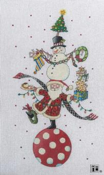 click here to view larger image of Christmas Circus (hand painted canvases)