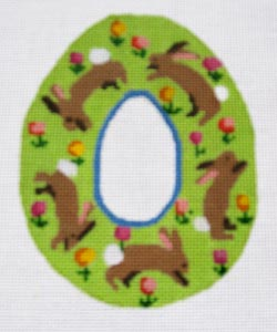 click here to view larger image of Garden Bunnies Sugar Egg (hand painted canvases)