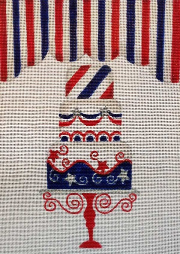 click here to view larger image of 4th Of July Cake (hand painted canvases)