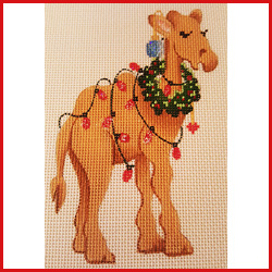 click here to view larger image of Camel With Lights Ornament (hand painted canvases)