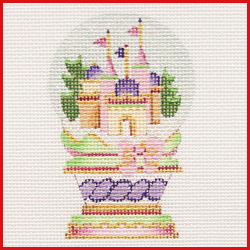 click here to view larger image of Castle Snowglobe Ornament (hand painted canvases)