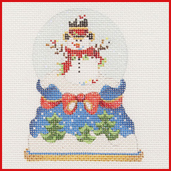 click here to view larger image of Snowman Snowglobe Ornament (hand painted canvases)