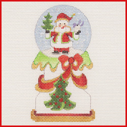 click here to view larger image of Santa Snowglobe Ornament (hand painted canvases)