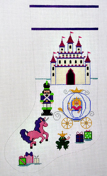 click here to view larger image of Fairy Tale Princess Stocking (hand painted canvases)