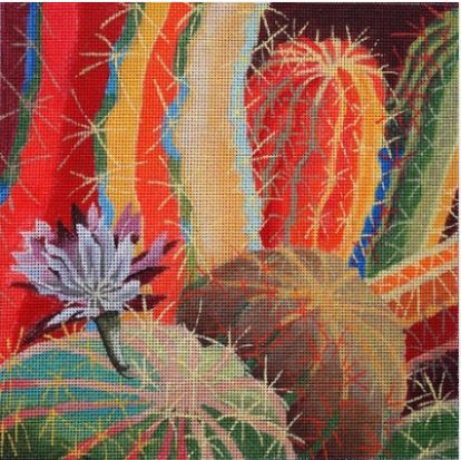 click here to view larger image of Cactus Blossom (hand painted canvases)
