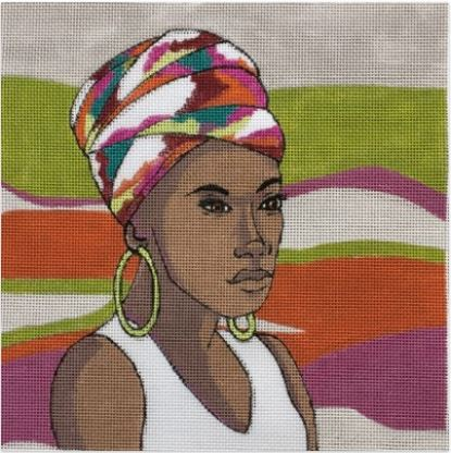 click here to view larger image of Nubian (hand painted canvases)