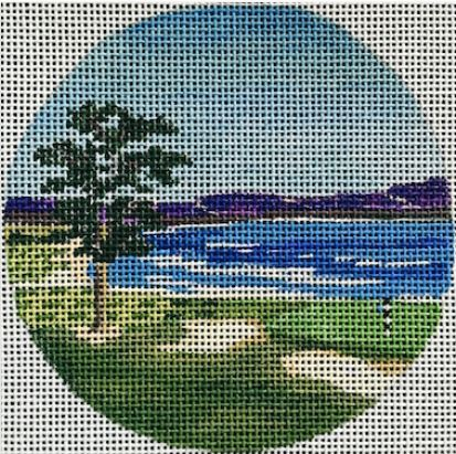 click here to view larger image of Pebble Beach Ornament (hand painted canvases)