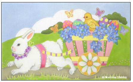 click here to view larger image of Bunny Cart (hand painted canvases)