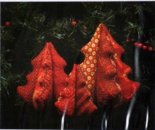 click here to view larger image of 3D 5in Christmas Tree - Red (hand painted canvases)