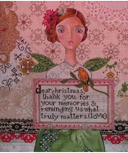 click here to view larger image of Dear Christmas (hand painted canvases)