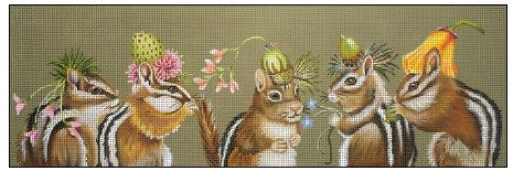 click here to view larger image of Chipmunk Party (hand painted canvases)