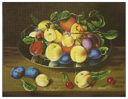 click here to view larger image of Apricots and Plums (hand painted canvases)