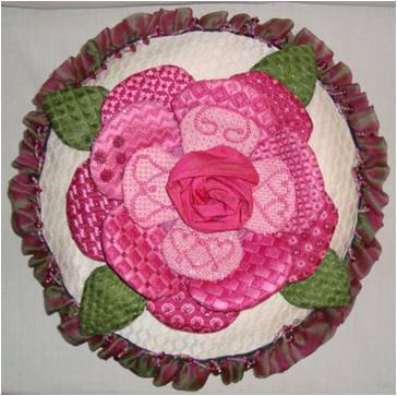 click here to view larger image of 3D Rose (hand painted canvases)