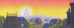 click here to view larger image of Rooftops of Paris (hand painted canvases)