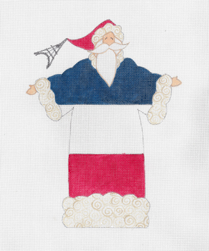 click here to view larger image of French Flag Santa, The (hand painted canvases)