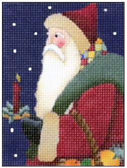 click here to view larger image of Candle Santa (hand painted canvases)