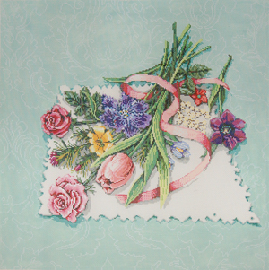 click here to view larger image of Fragrant Gathering (hand painted canvases)